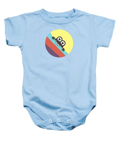 Cute Bug Bites Candy Colored Stripes Baby Onesie