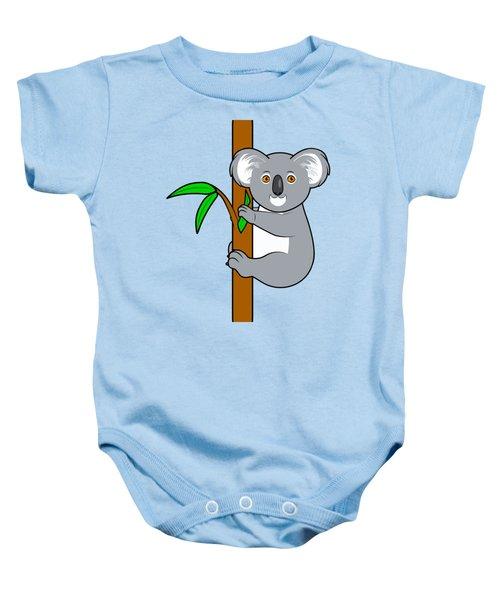 Koala With Eucalyptus Snack Baby Onesie