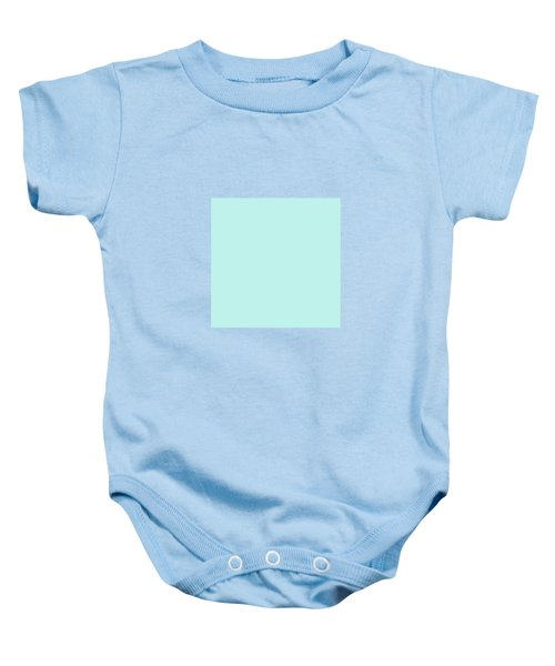 Cyan Ultra Soft Pastels Colour Palette Baby Onesie