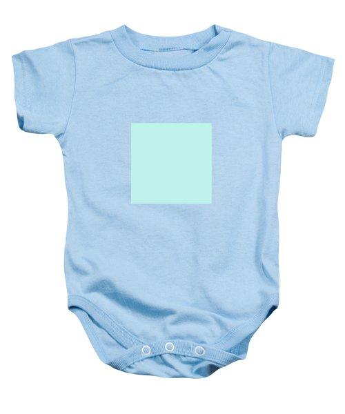 Cyan Ultra Soft Pastels Colour Palette Baby Onesie