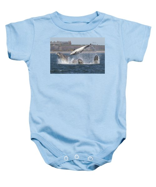 Dance Of The Dolphins Baby Onesie