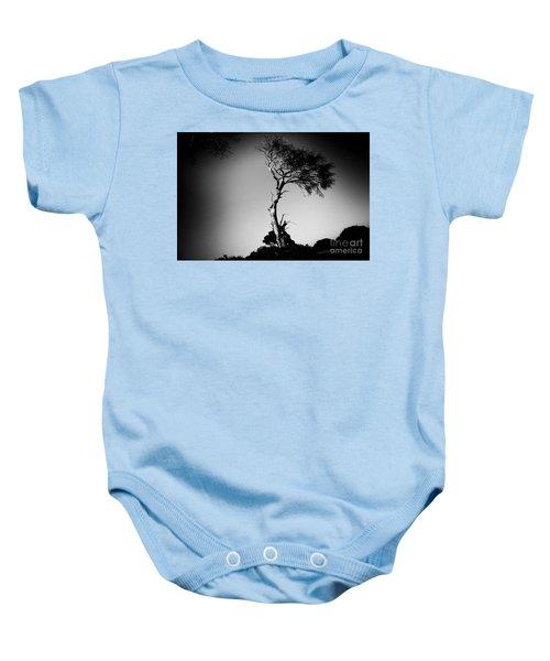 Dead Tree Bw Baby Onesie