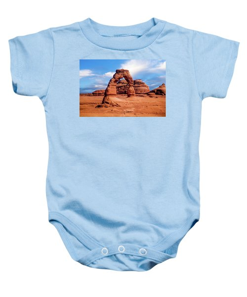 Delicate Arch From Lower Viewpoint Baby Onesie