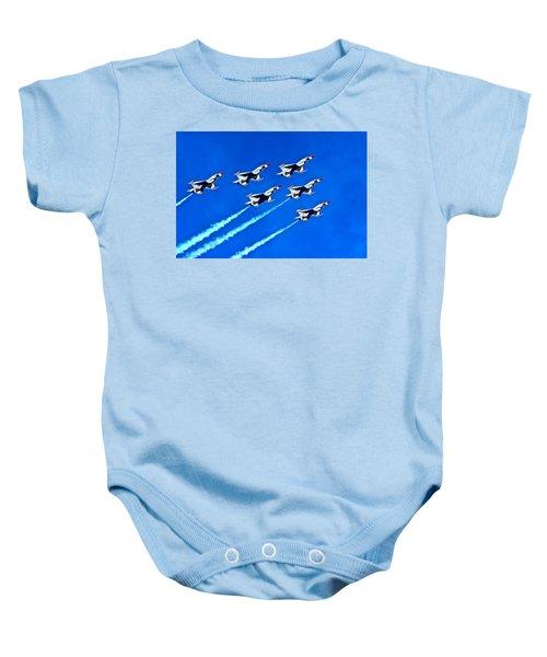 Delta Formation Baby Onesie