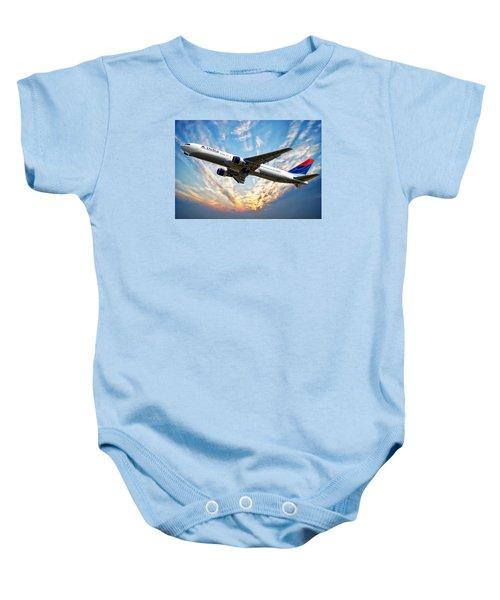 Delta Passenger Plane Baby Onesie