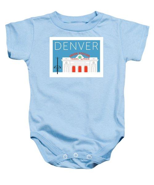 Denver Union Station/blue Baby Onesie