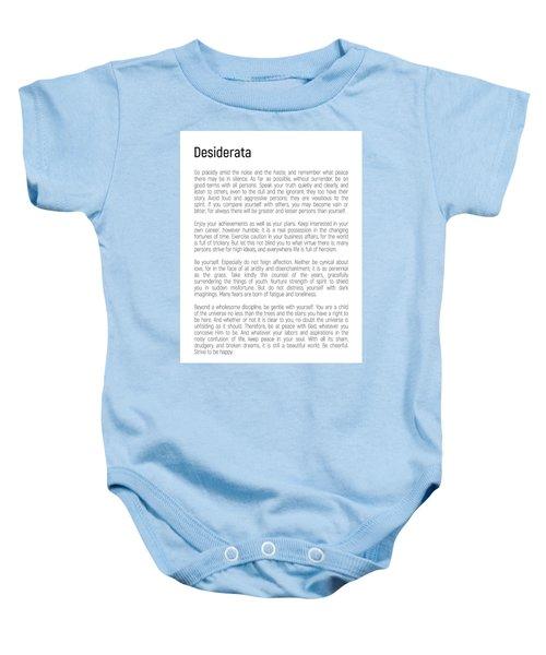 Desiderata #minimalism Baby Onesie