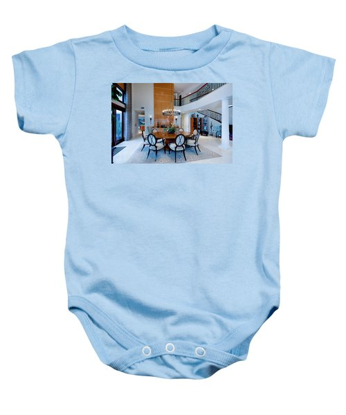 Dining In The Round Baby Onesie