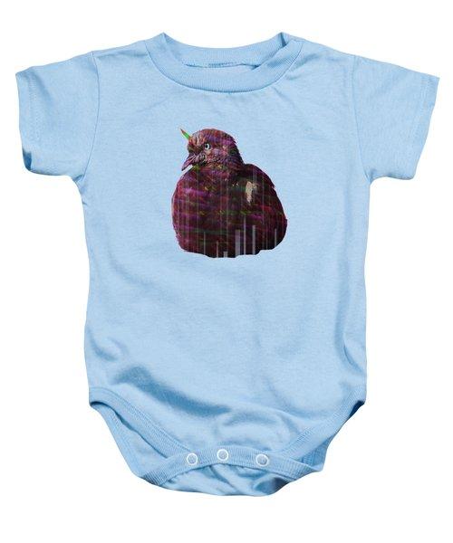 Disco Pigeon Unicorn Baby Onesie