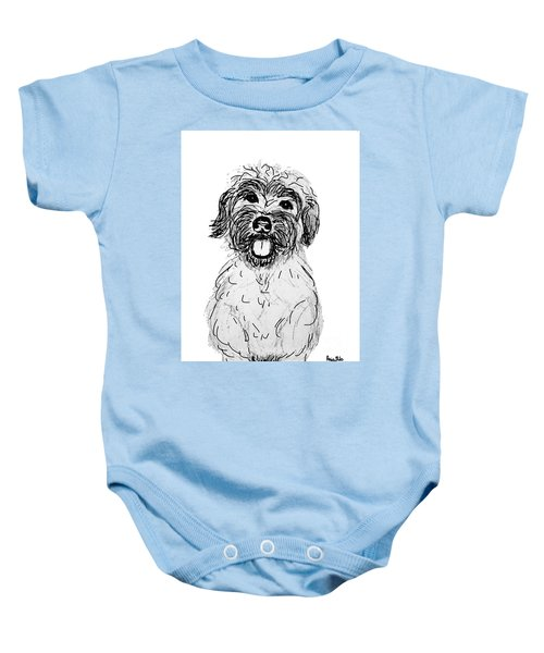 Dog Sketch In Charcoal 6 Baby Onesie