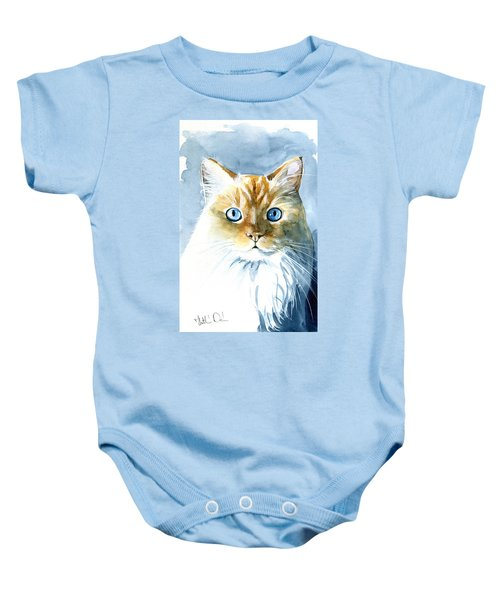 Doll Face Flame Point Himalayan Cat Painting Baby Onesie
