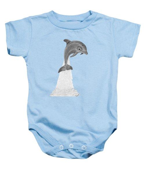 Dolphin #2 Baby Onesie by Rita Palmer