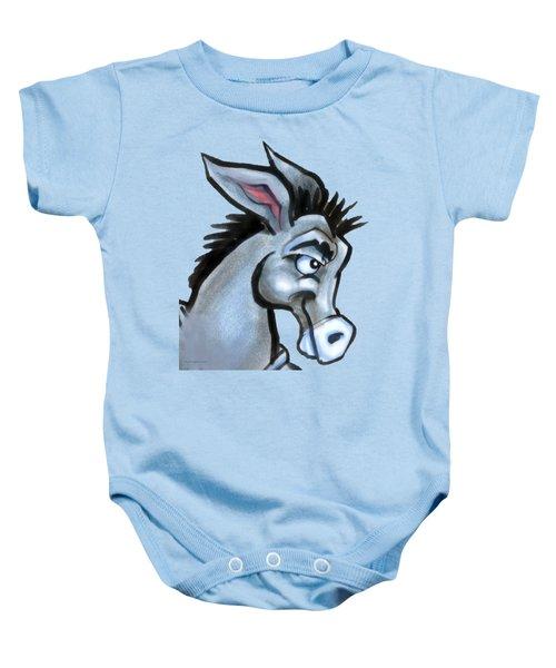 Donkey Baby Onesie by Kevin Middleton