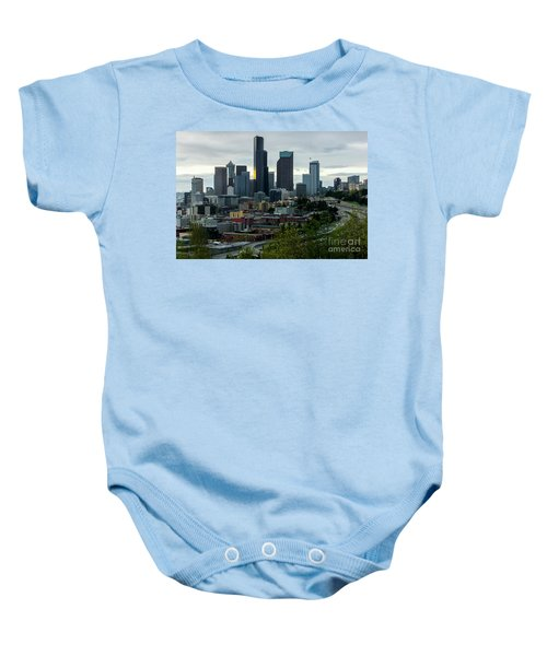 Downtown Seattle,washington Baby Onesie