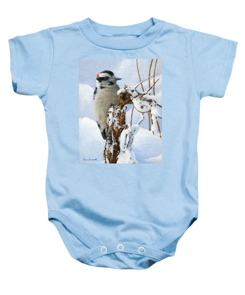 Downy Woodpecker  Baby Onesie