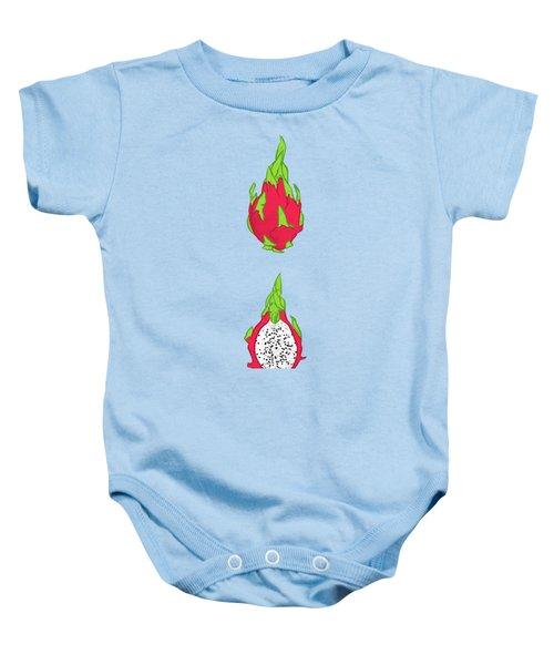 Dragon Fruit Baby Onesie by Evgenia Chuvardina