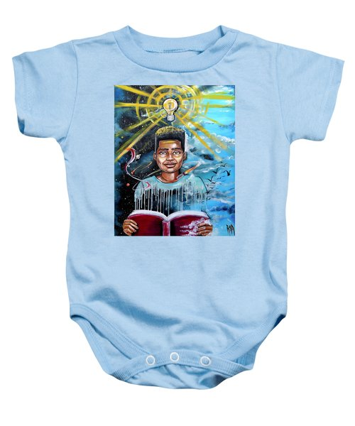 Drenched In Knowledge Baby Onesie