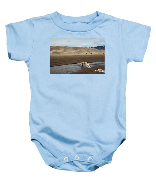 Drift Wood And Dunes Baby Onesie