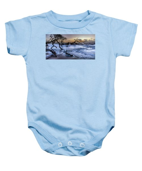 Driftwood Beach 3 Baby Onesie