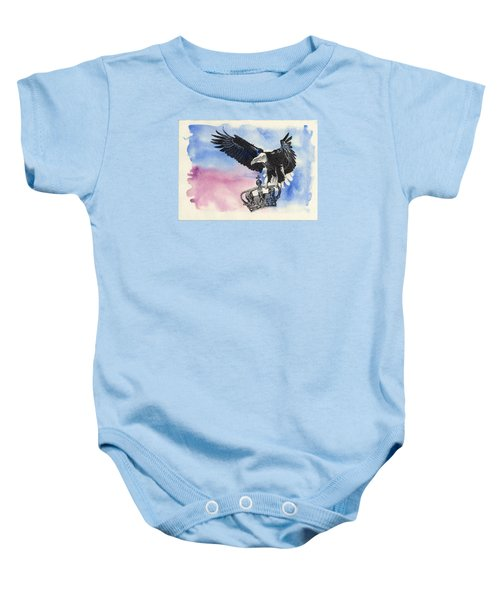 Dropping Royal Crowns Baby Onesie