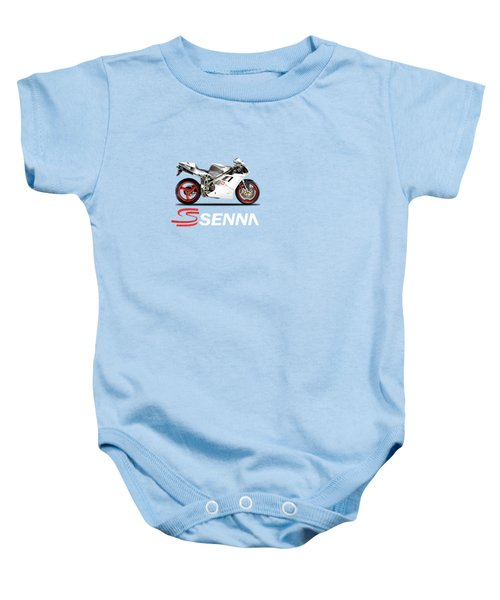 Ducati 916 Senna Baby Onesie by Mark Rogan