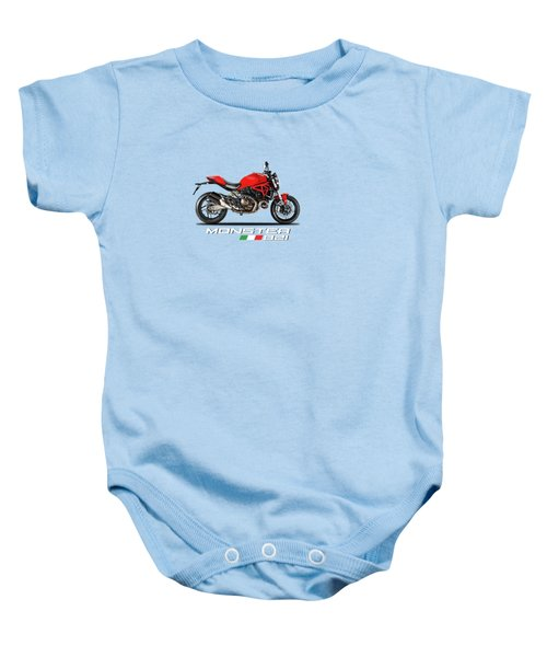 Ducati Monster 821 Baby Onesie by Mark Rogan
