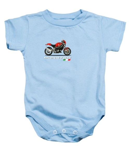 Ducati Monster S4 Sps Baby Onesie by Mark Rogan