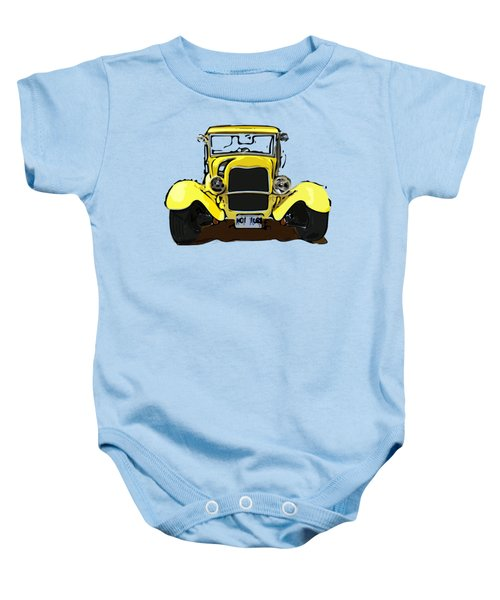 Early 1930s Ford Yellow Baby Onesie