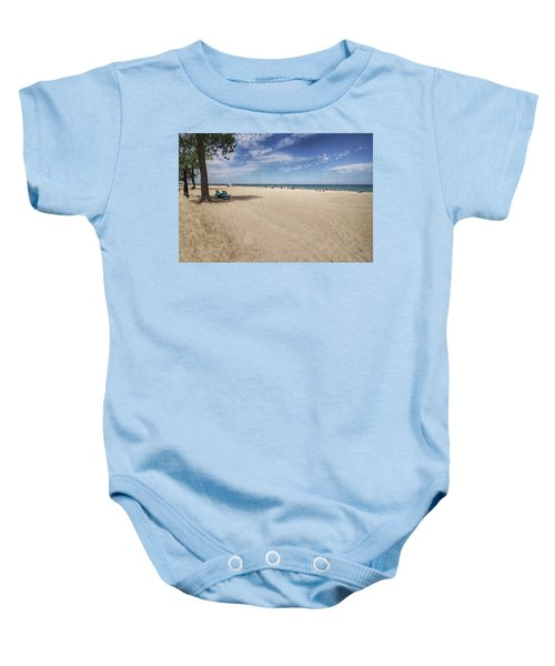 Early Morning Beach Baby Onesie