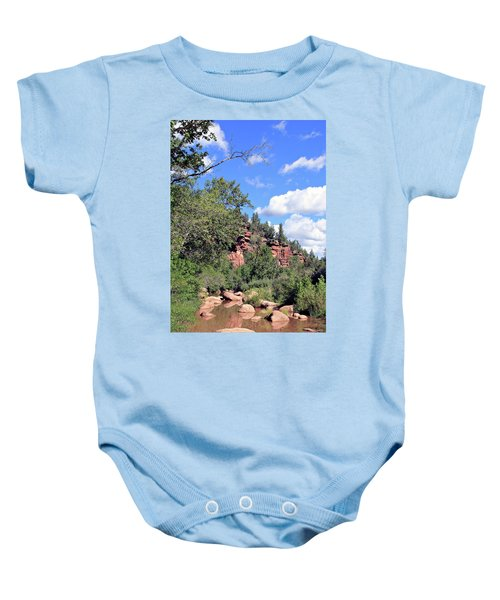East Verde Summer Crossing Baby Onesie