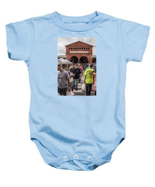 Eastern Market Summer Detroit  Baby Onesie