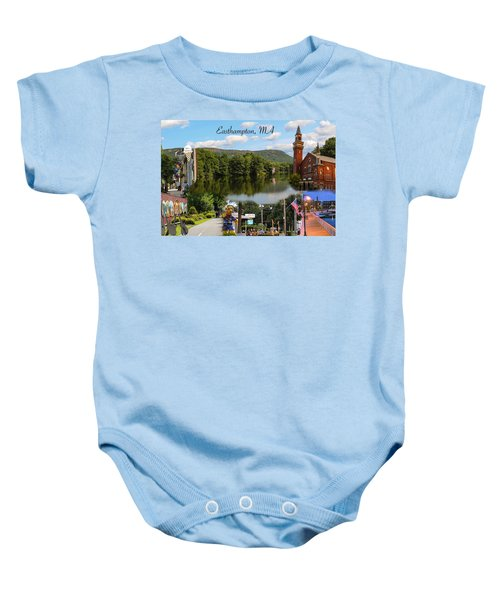 Easthampton Ma Collage Baby Onesie