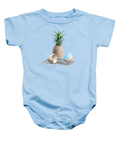 Eggs On A Feather Baby Onesie by Absentis Designs