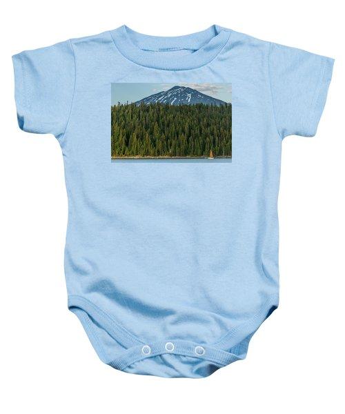 Elk Lake Sailing  Baby Onesie