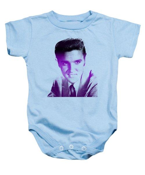 Elvis Lines Variant #20 Baby Onesie by Mr Clever