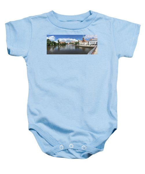 Embankment Of Trave In Luebeck Baby Onesie