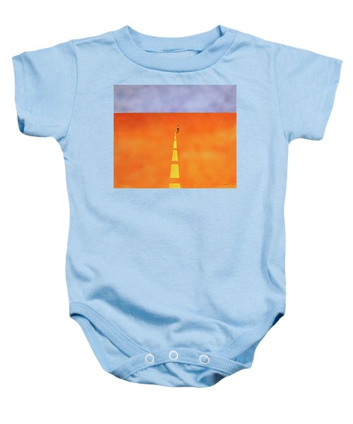 End Of The Line Baby Onesie