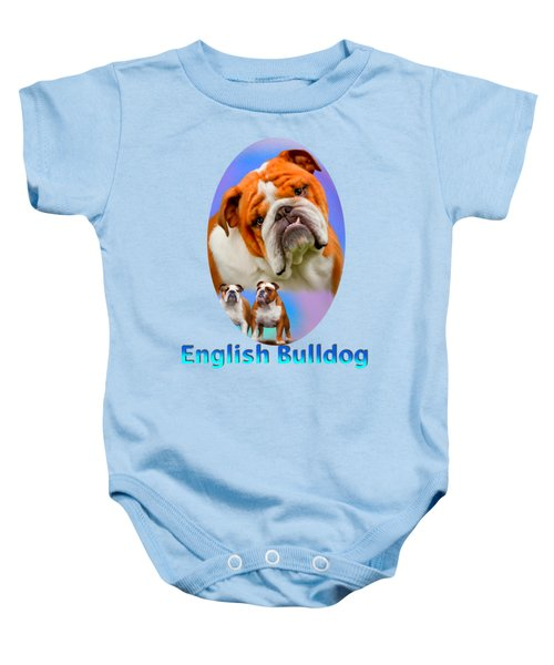 English Bulldog With Border Baby Onesie