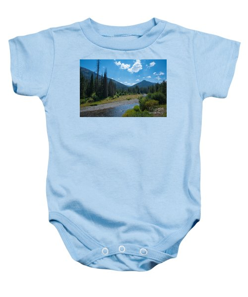 Entering Yellowstone National Park Baby Onesie