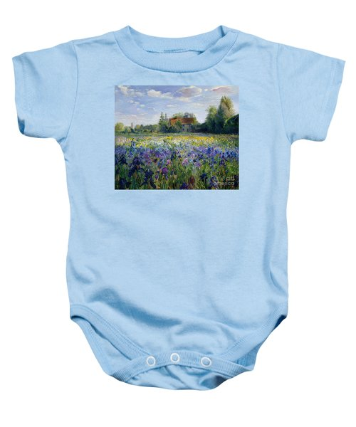 Evening At The Iris Field Baby Onesie