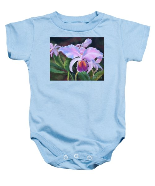 Exotic Pink Orchid Baby Onesie