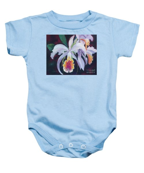 Exotic White Orchid Baby Onesie