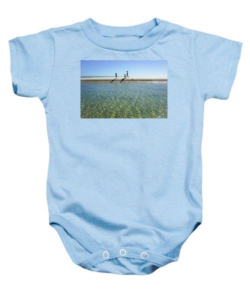 Exploring A Tidal Beach Lagoon Baby Onesie