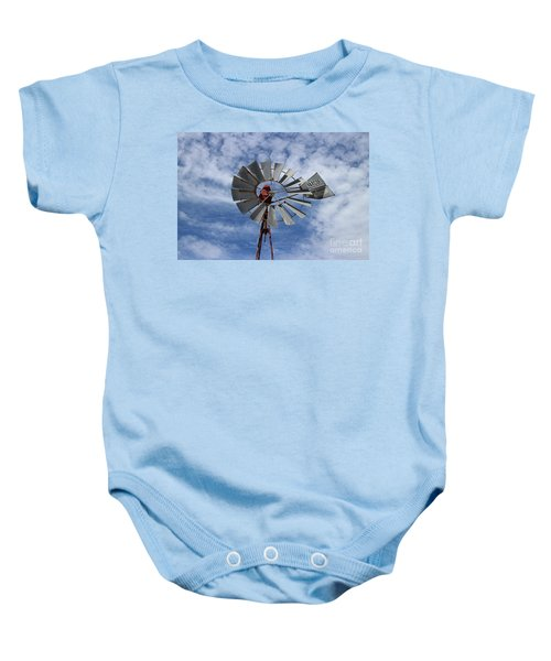 Baby Onesie featuring the photograph Facing Into The Breeze by Stephen Mitchell