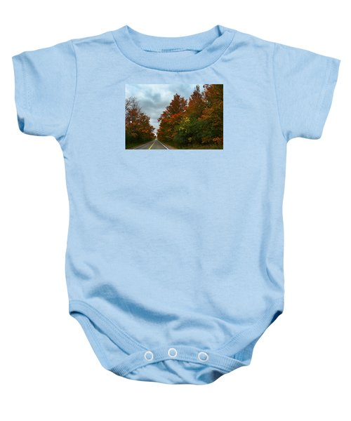 Fall Colors Dramatic Sky Baby Onesie