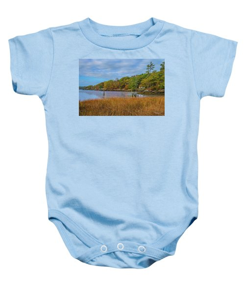 Fall Colors In Edgecomb Too Baby Onesie