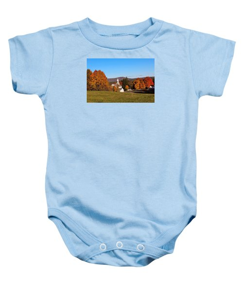 Fall Mountain View Baby Onesie