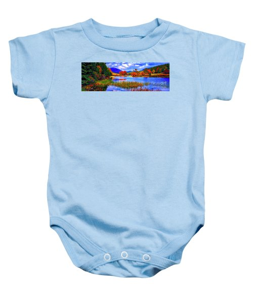 Fall On Long Pond Acadia National Park Maine  Baby Onesie