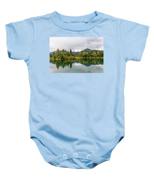 Falls Colors In Gold Creek Pond Baby Onesie