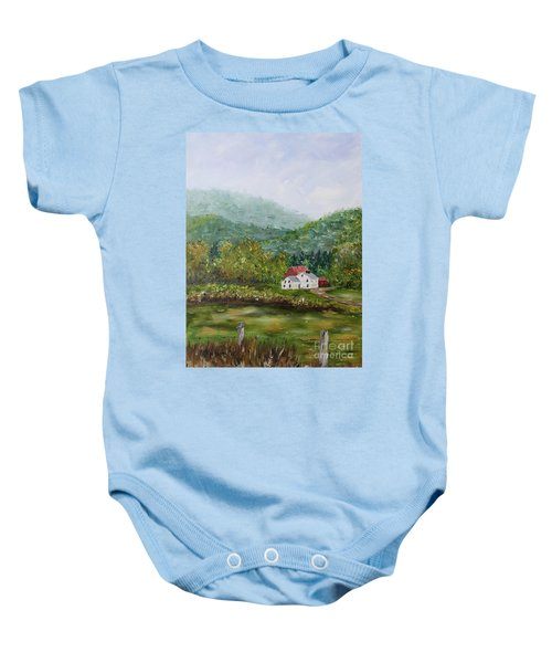 Farm In The Valley Baby Onesie